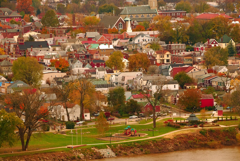 Cidade EUA do rio imagens de stock royalty free