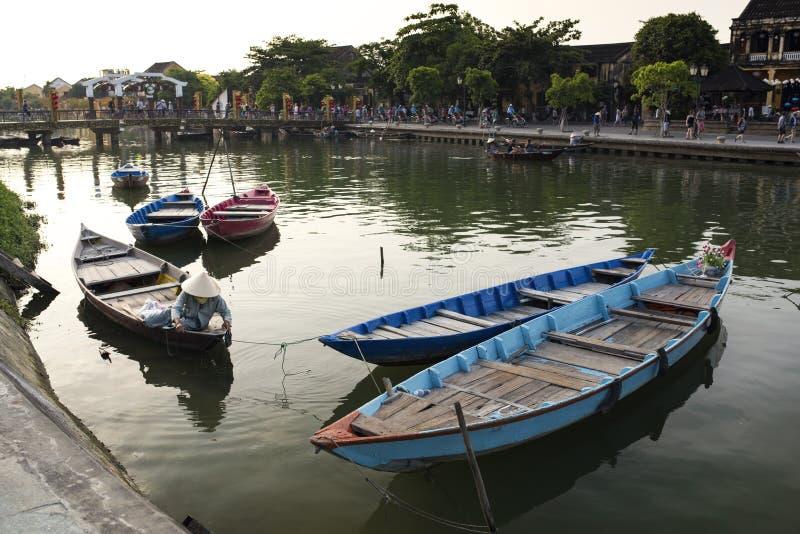 Cidade famosa de Hoian - Vietname foto de stock royalty free