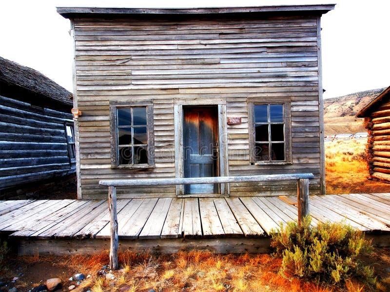 Cidade fantasma, Cody, Wyoming, Estados Unidos foto de stock