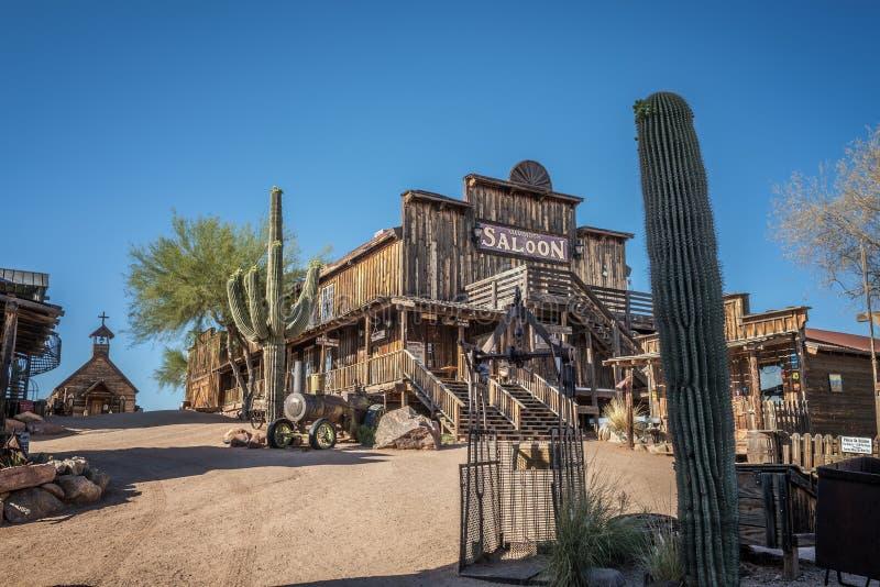 Cidade fantasma da jazida de ouro no Arizona imagens de stock