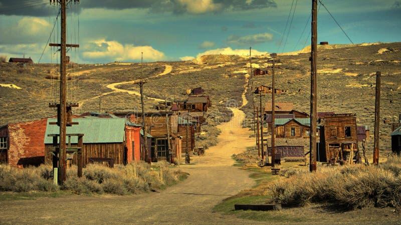 A cidade fantasma de Bodie - Califórnia imagens de stock
