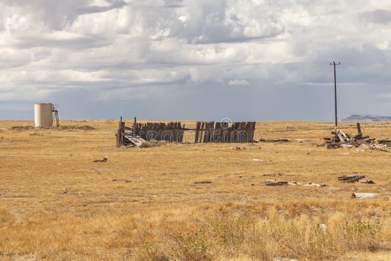 Cidade fantasma de Cisco, Utá fotografia de stock