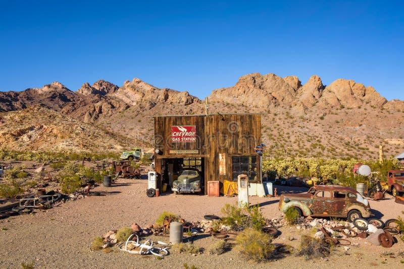 Cidade fantasma de Nelson situada na garganta do EL Dorado perto de Las Vegas, Nevada fotos de stock