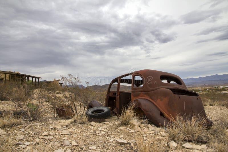 Cidade fantasma de Terlingua - Texas imagens de stock royalty free