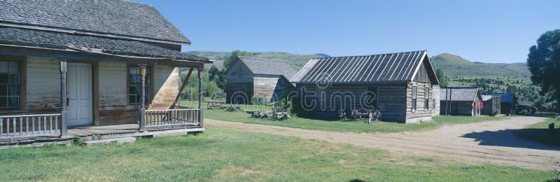 Cidade fantasma, Nevada City, Montana imagem de stock