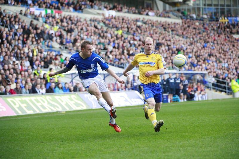Cidade FC de Cardiff - Craig Bellamy fotos de stock