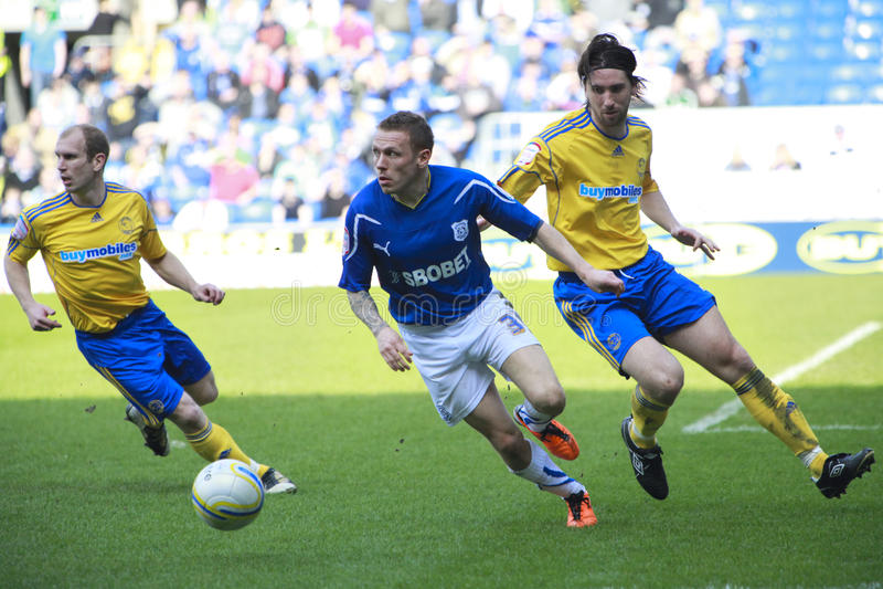 Cidade FC de Cardiff - Craig Bellamy foto de stock