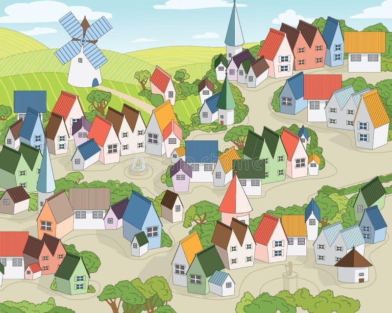 Cidade feericamente ilustração royalty free