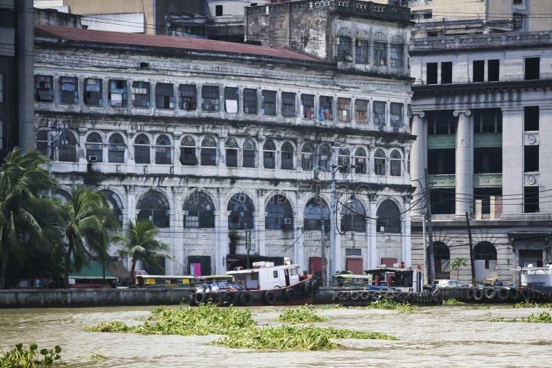 Cidade Filipinas de manila da arquitetura do rio de Pasig imagem de stock royalty free