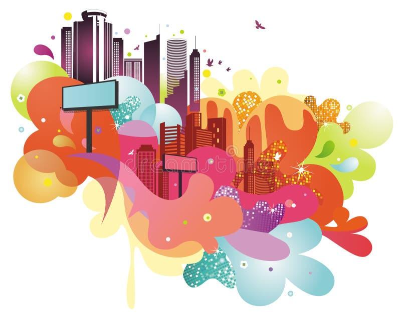 Cidade Funky ilustração do vetor
