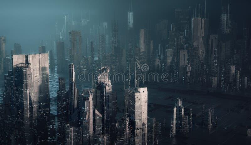 Cidade futurista fotografia de stock