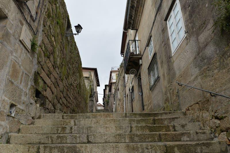 A cidade galega de Tui fotografia de stock