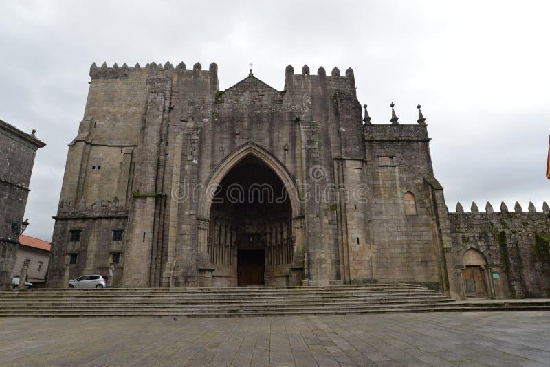 A cidade galega de Tui imagem de stock