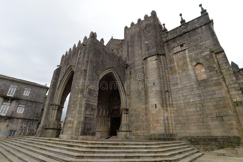 A cidade galega de Tui imagem de stock royalty free