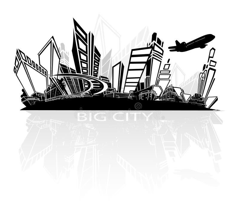 Cidade grande ilustração stock