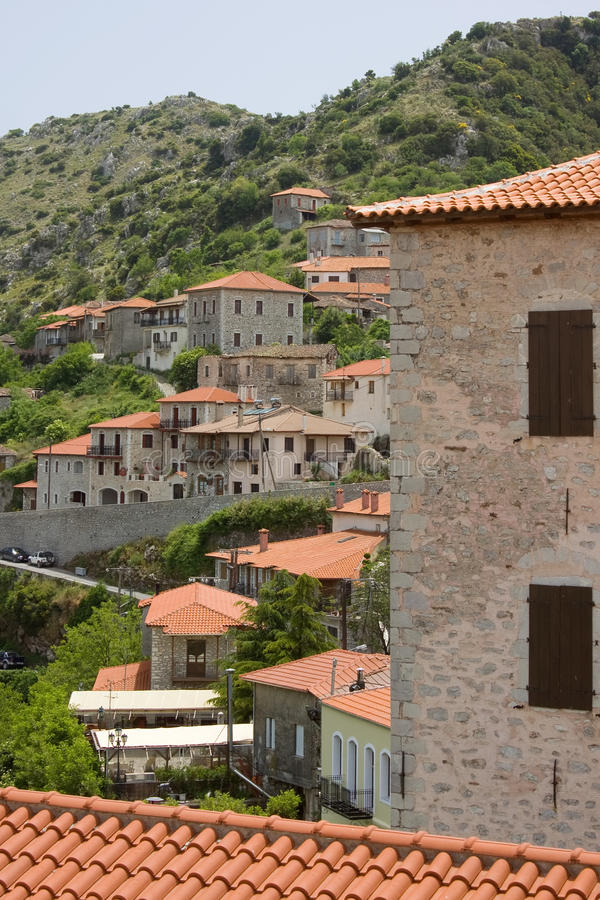 Cidade Greece de Dimitsana imagem de stock royalty free