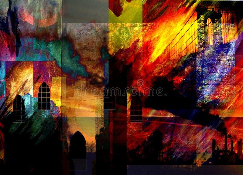 Cidade Grunge ilustração royalty free