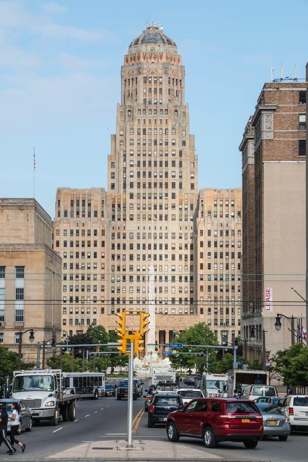 Cidade Hall Downtown do búfalo foto de stock