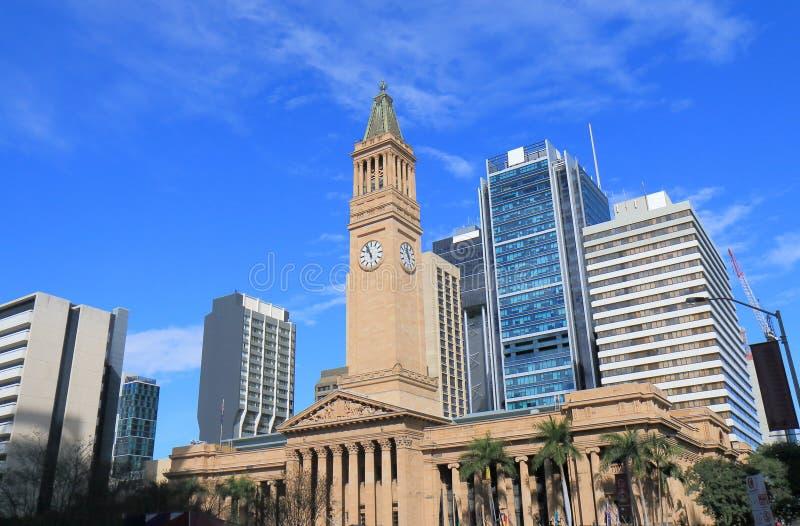 Cidade Hall Museum da arquitetura histórica Austrália de Brisbane foto de stock royalty free
