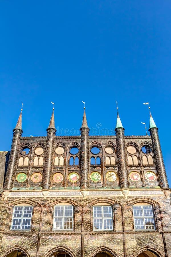 Cidade Hanseatic de Lubeque fotografia de stock royalty free