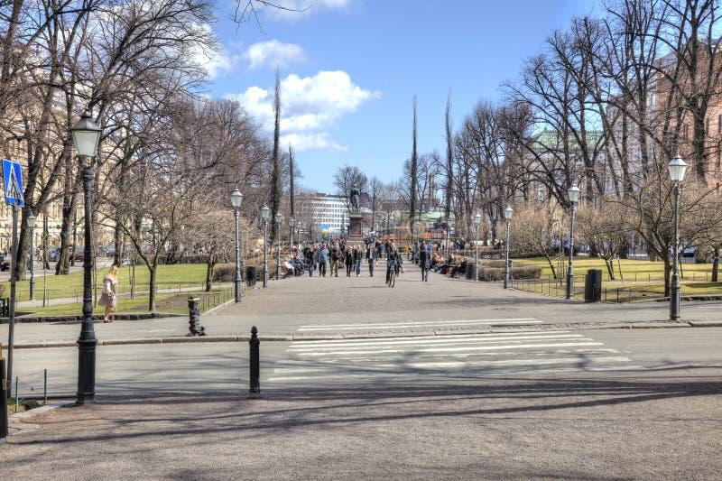 Cidade Helsínquia. Arquitetura da cidade fotografia de stock royalty free