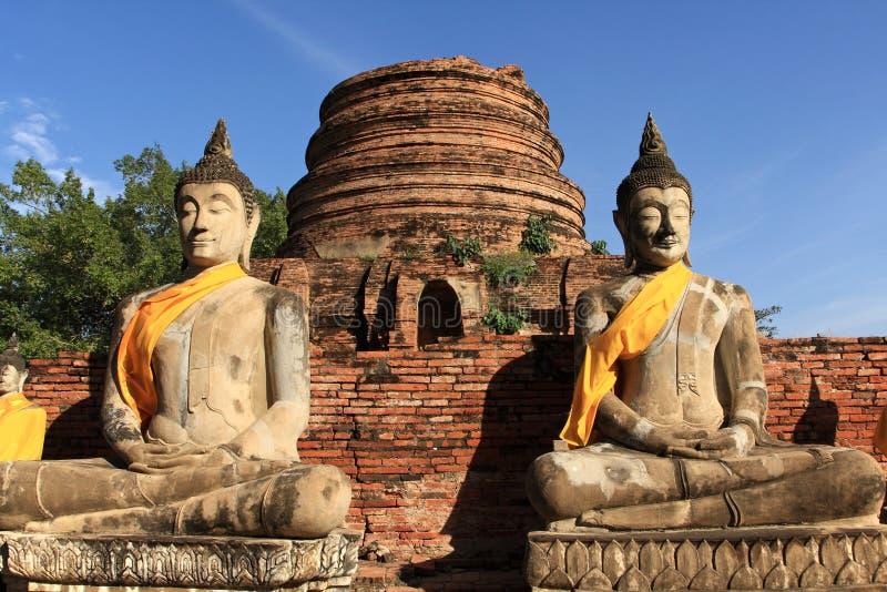 Cidade histórica de Ayutthaya, Tailândia fotografia de stock royalty free