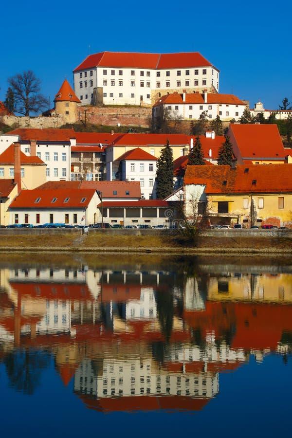 Cidade histórica de Ptuj, Eslovênia imagem de stock