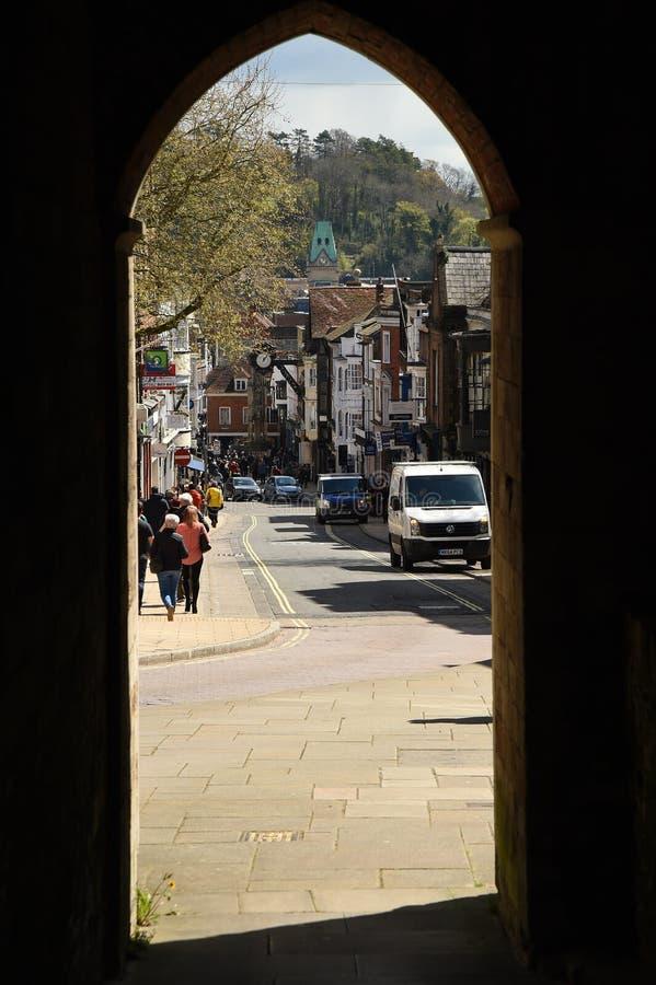 Cidade histórica de Winchester Hampshire, Inglaterra fotografia de stock