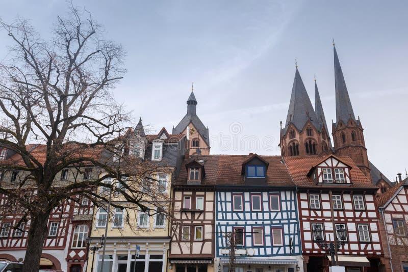 a cidade histórica gelnhausen Alemanha imagem de stock