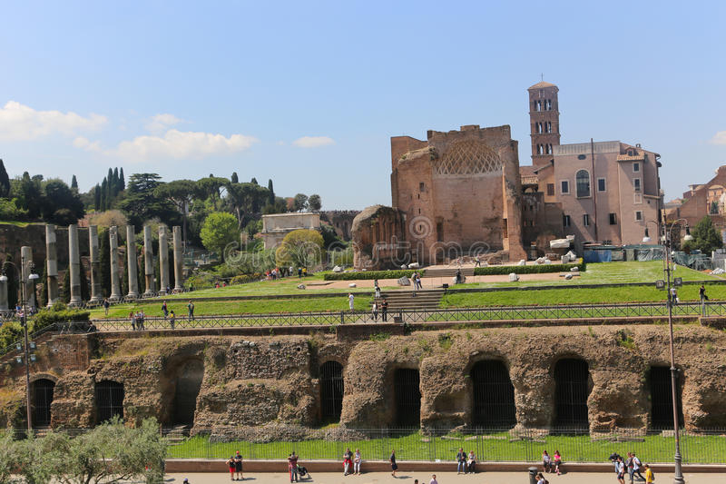 Cidade histórica Roma - Itália foto de stock