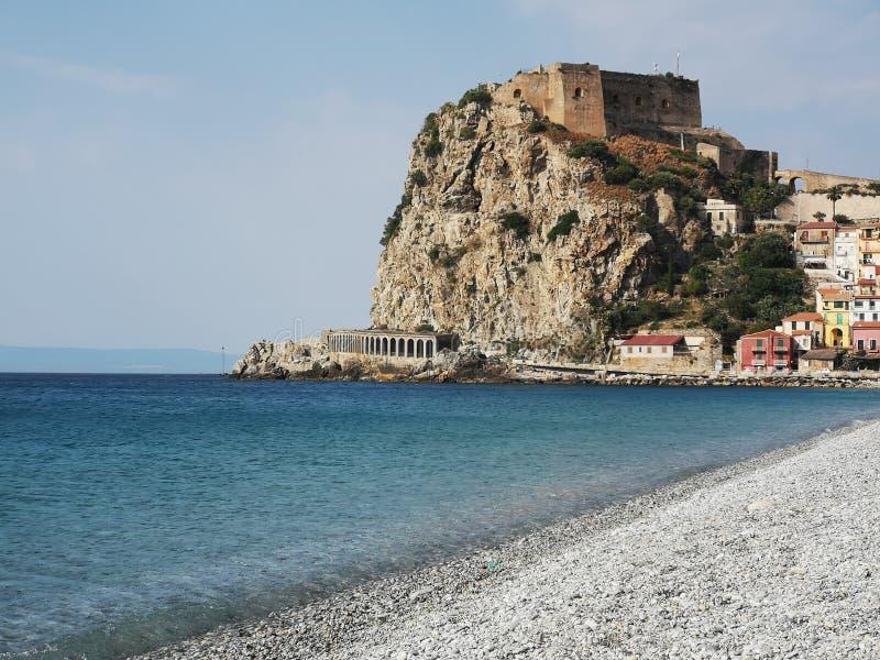 Cidade histórica velha de Scilla, Itália fotos de stock