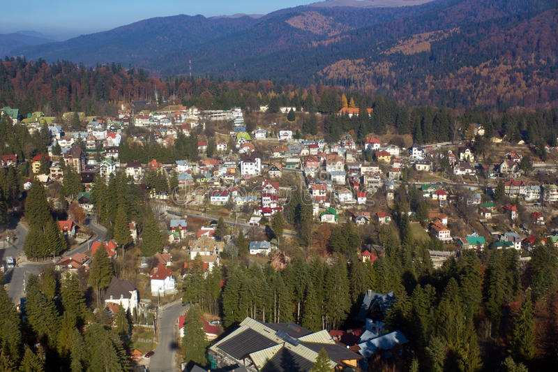 Cidade III da montanha fotos de stock