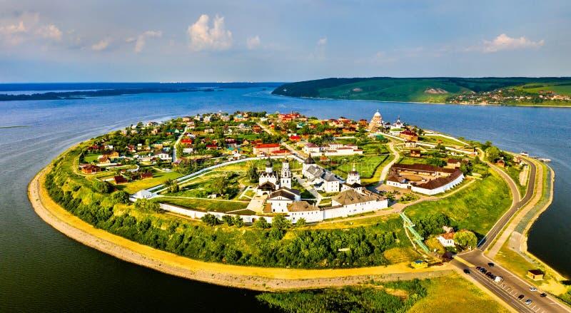 A cidade-ilha de Sviyazhsk em Rússia fotografia de stock