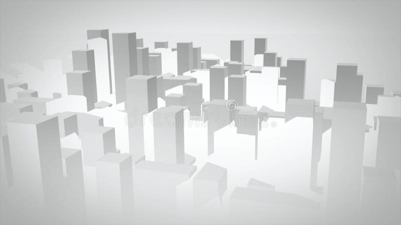 cidade ilustrada 3D ilustração royalty free