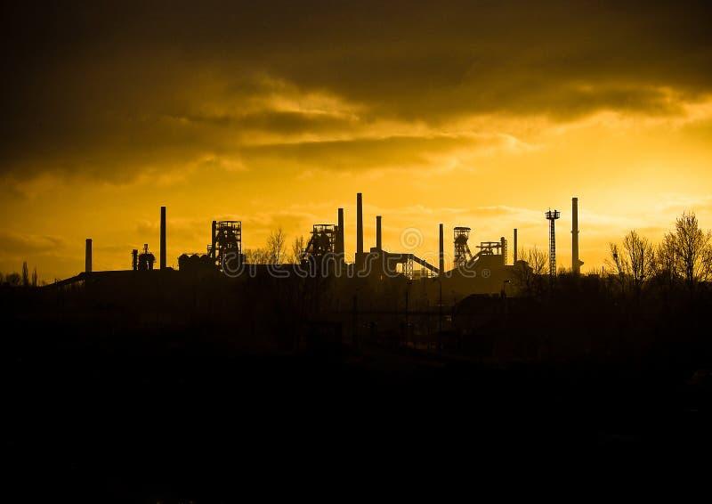 Cidade industrial de Ostrava fotografia de stock