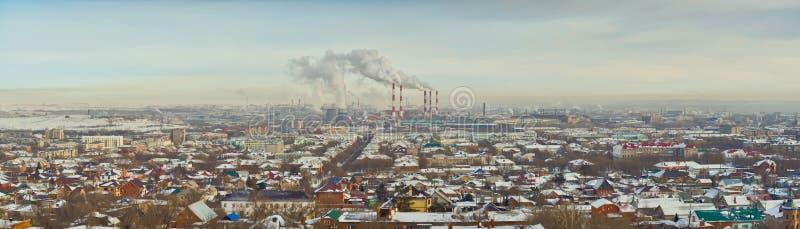 A cidade industrial de Ural foto de stock