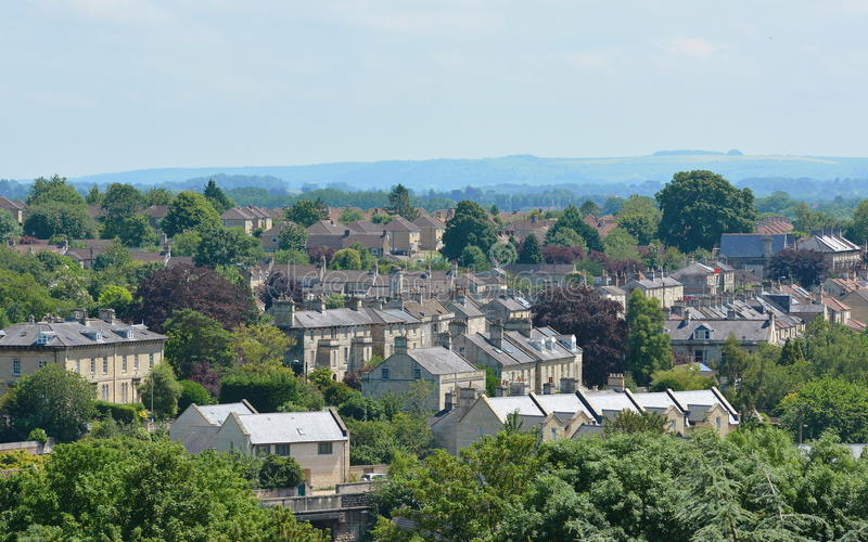 Cidade inglesa bonita imagem de stock