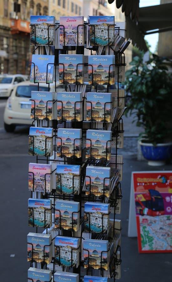 Cidade Itália de Roma da loja de lembrança foto de stock royalty free