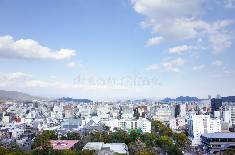 Cidade Japão de Kochi imagem de stock