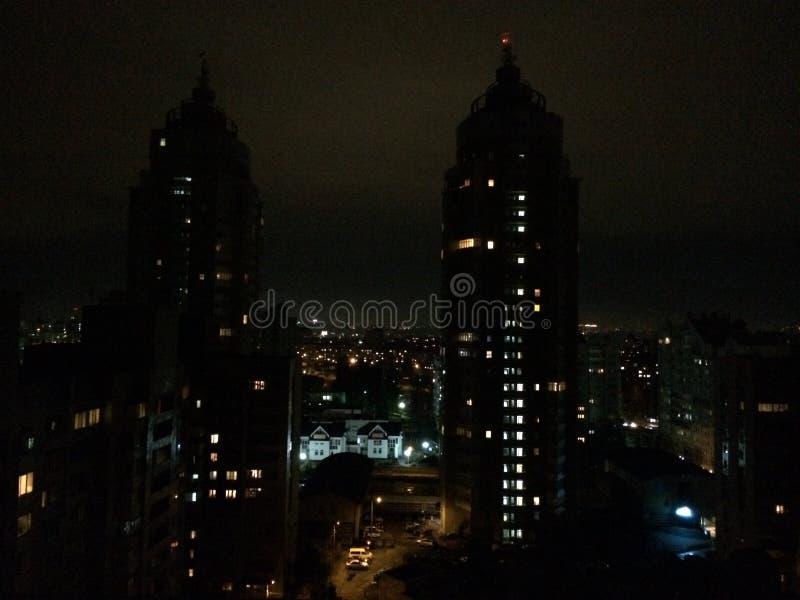 Cidade Kiev da noite imagens de stock royalty free