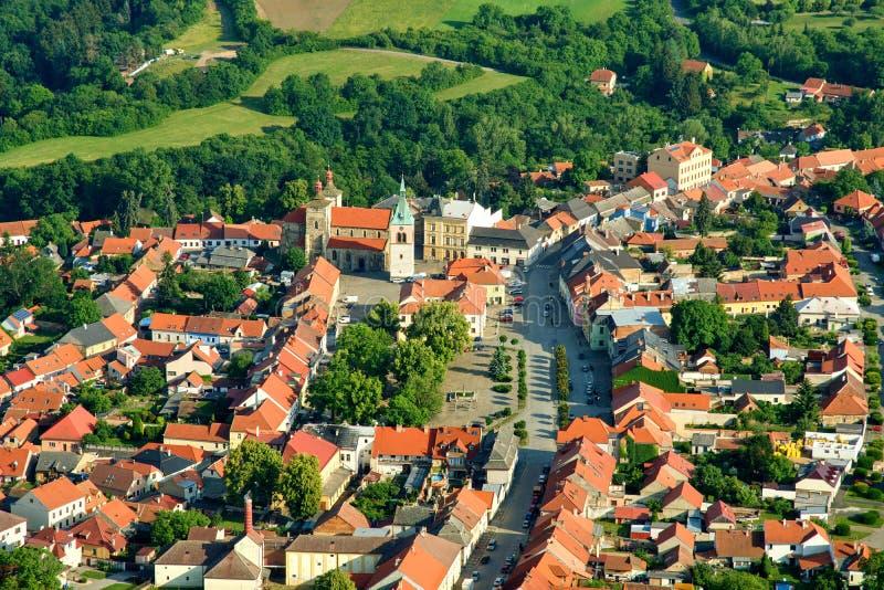 Cidade Kourim - cidade histórica foto de stock royalty free