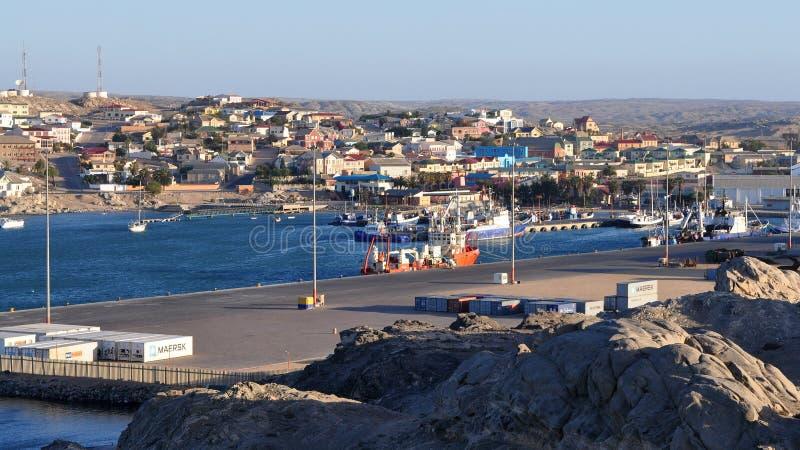 Cidade Lüderitz, Namíbia fotografia de stock