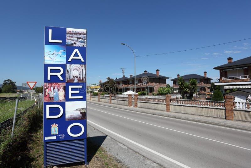 Cidade Laredo em Cantábria, Espanha imagens de stock royalty free