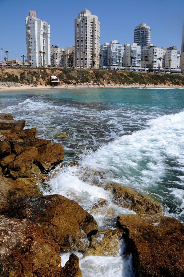 A cidade litoral, Bastão-Atola, Israel. imagem de stock royalty free