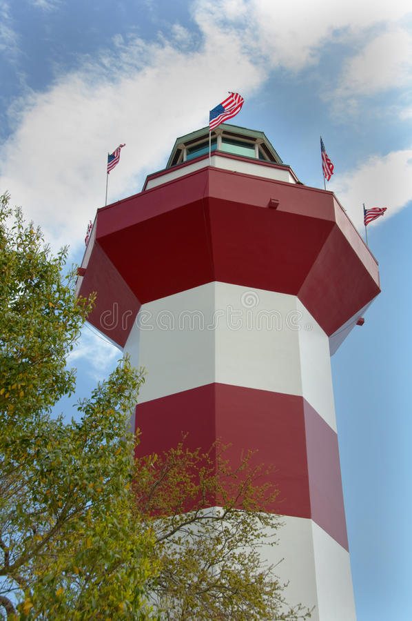 Cidade Llighthouse do porto em Hilton Head foto de stock royalty free