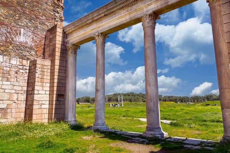 Cidade Lydia Roman Empire Sardes Sardis do grego clássico imagem de stock