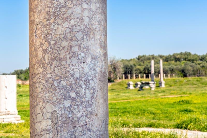 Cidade Lydia Roman Empire Sardes Sardis do grego clássico imagens de stock