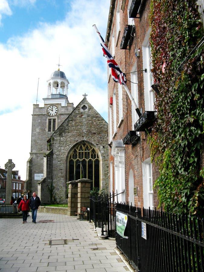 Cidade Lymington em Inglaterra foto de stock royalty free
