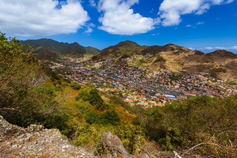 Cidade Machico - Madeira Portugal fotos de stock