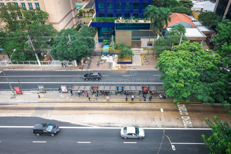 A cidade a mais grande da opinião de Sao Paulo em latino-americano foto de stock royalty free